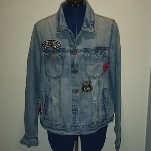 Forever 21 Plus Size Distressed Jean Jacket